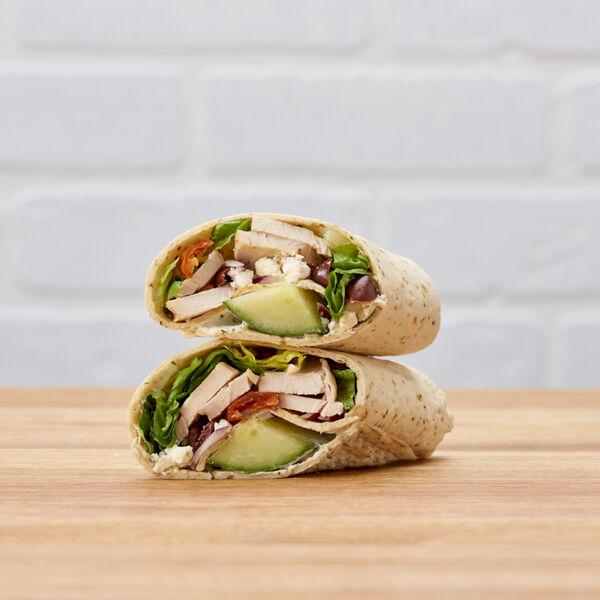 Greek Chicken Salad Wrap