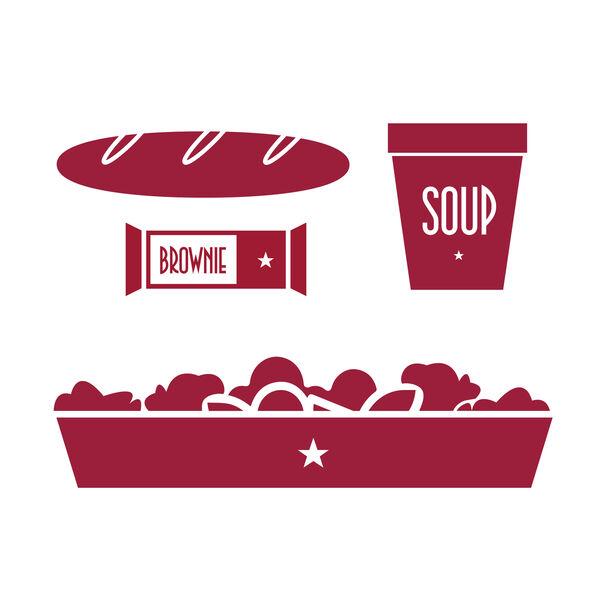 Chicken Caesar Salad & Tomato Feta Soup Family Lunch