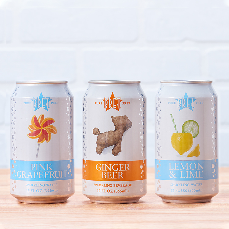 Pure Pret Sparkling Drinks